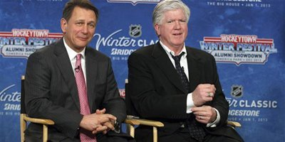 Ken Holland and Brian Burke announce the 2013 Winter Classic.