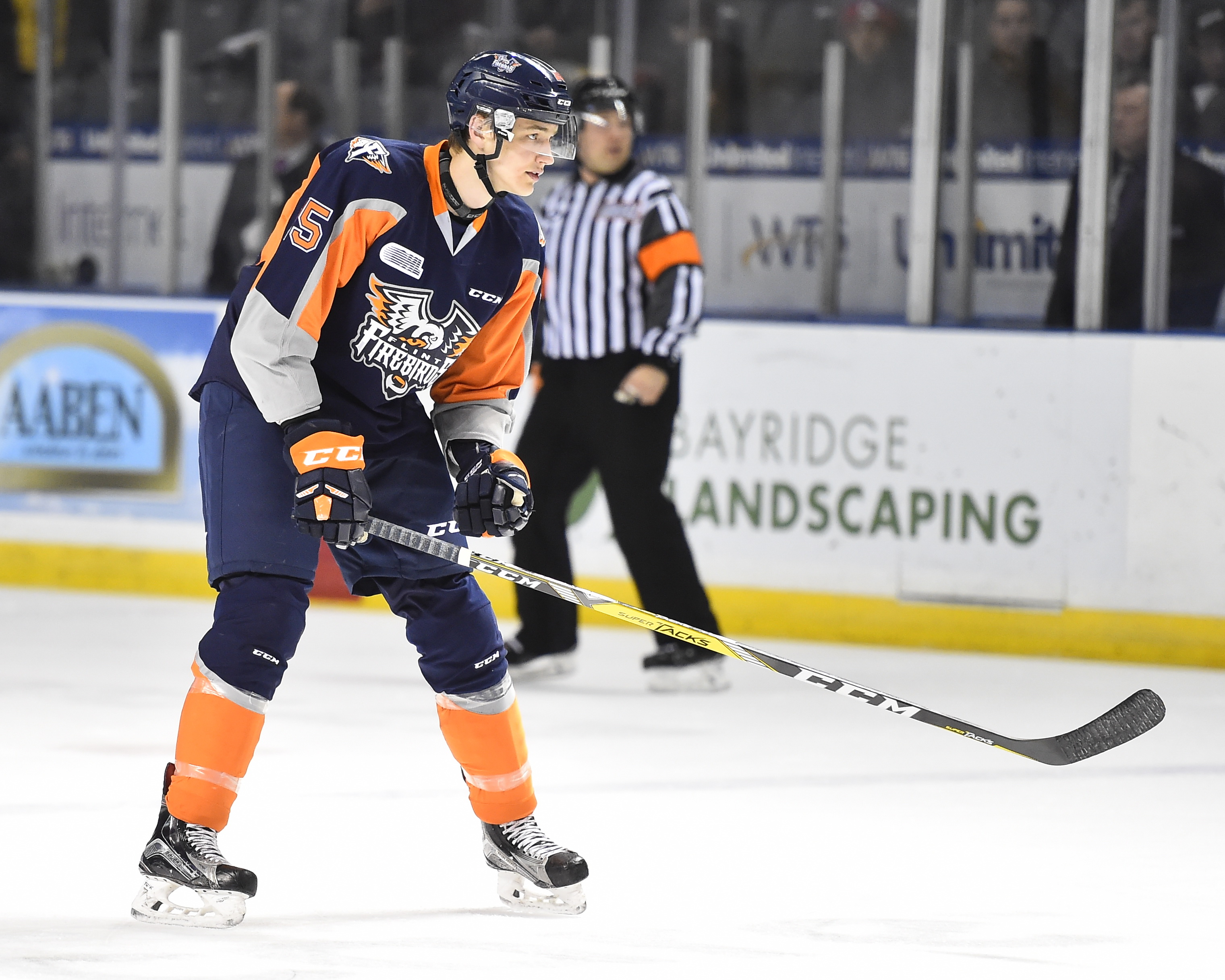Fedor Gordeev of the Flint Firebirds. Photo by Aaron Bell/OHL Images