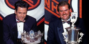 Doug Gilmour and Pat Burns at the 1992-93 NHL Awards