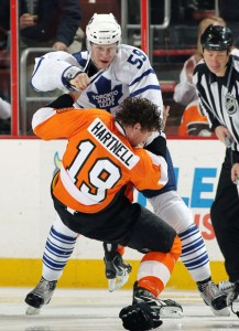Keith Aulie Vs Scott Hartnell
