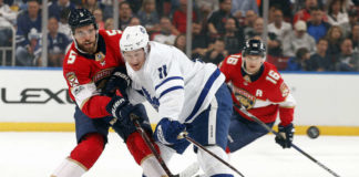 toronto maple leafs vs. florida panthers, zach hyman and aaron ekblad