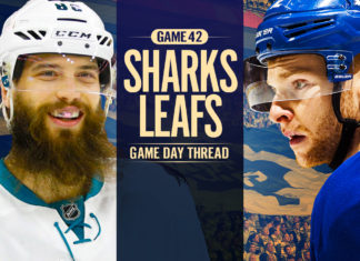 Toronto Maple Leafs vs San Jose Sharks - Game Day thread