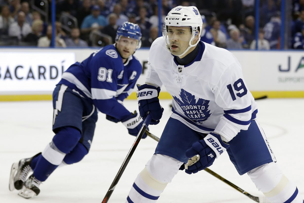 Tomas Plekanec of the Toronto Maple Leafs