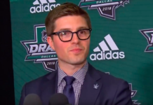 GM Kyle Dubas at the 2018 NHL Draft
