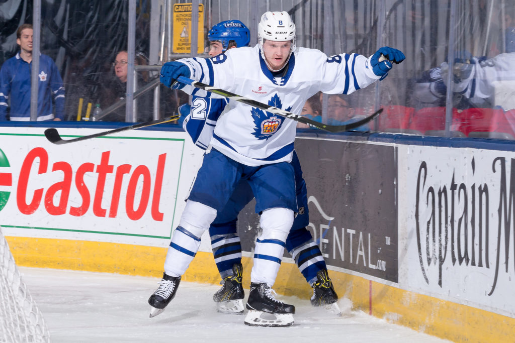 Rasmus Sandin of the Toronto Marlies