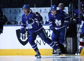 Mitch Marner and Auston Matthews of the Toronto Maple Leafs