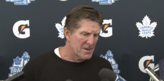 Mike Babcock of the Toronto Maple Leafs