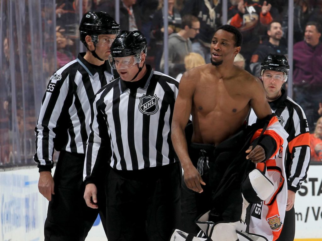 Wayne Simmonds fights